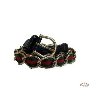 Authentic GUCCI Sherry Line Chain Belt Size 36